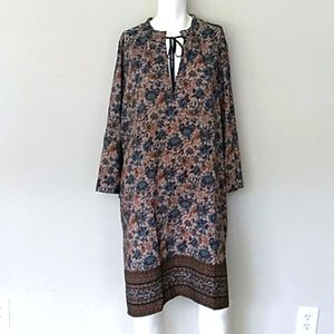 Bobeau Floral/Paisley Midi Dress. Sz 3X NWT